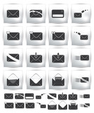 Vector collection web icon. Set pictogram envelope