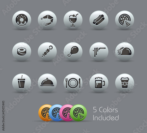 Food Icons - Set 2 of 2  / The vector file includes 5 colors
