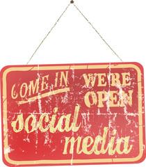 social media and network, design element
