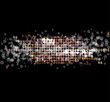 abstract disco light stars vector background
