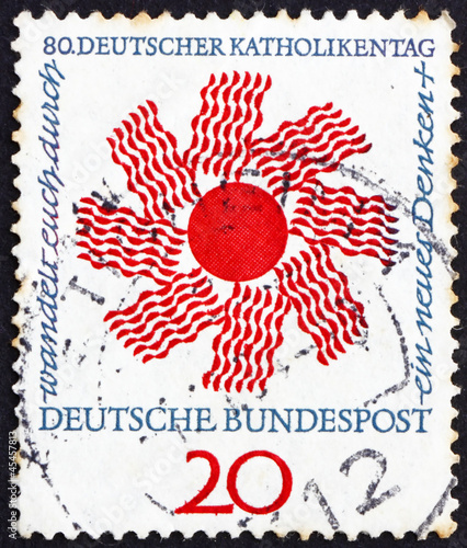 Postage stamp Germany 1964 Radiating Sun
