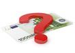 Geldschein Fragezeichen