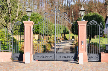 Entrance of a luxury villa