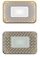 METAL PLATE NAME PLATES WITH MIRROR INTERIOR