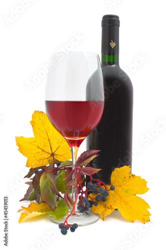Wein - 002 - Rotwein - Glas - Herbst