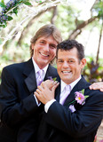 Handsome Gay Couple on Wedding Day