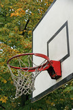 basketball hoop used an ancient chapel where children were playi