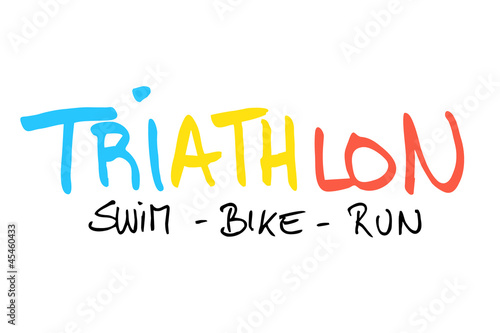 canvas print picture Triathlon