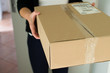 Woman receiving parcel