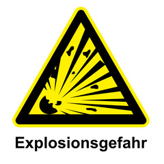 Schild - Explosionsgefahr