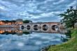 Leinwanddruck Bild - Rimini Ponte di Tiberio