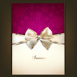 Greeting Card With White Bow A...