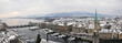 Winter panorama of Zurich