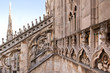 Detail of gothic cathedral of Milan. Italy.