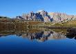 Reflets dans un lac des Alpes