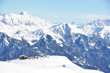 Pizol, famous Swiss skiing resort