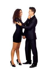 Young Business Loving Couple