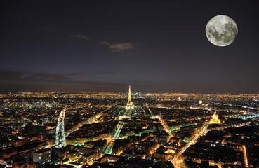 PARIS - APRIL 4: Eiffel Tower at night April 4, 2010 in Paris, F