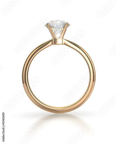 Diamond ring with clipping path