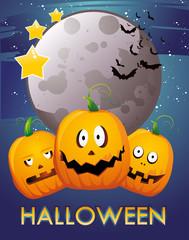 calabazas de halloween en vector