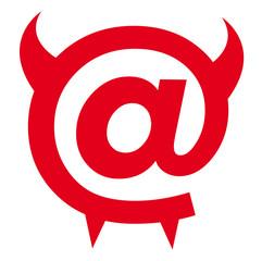 internet, arobase, informatique, mail, langage, diable