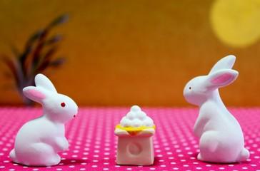 ウサギの月見
