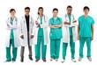 Full length Portrait of multiracial doctor's & nurses.