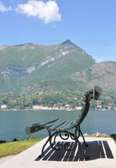 Park of Villa Melzi in Bellagio at the famous Italian lake Como
