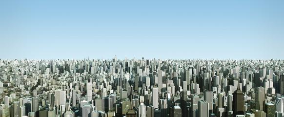 futuristic city, 3d digitally rendered illustration