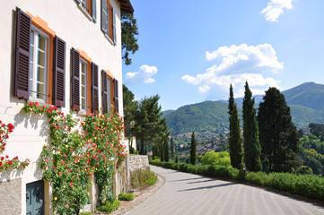 Park of Villa Serbelloni in Bellagio at the famous Italian lake