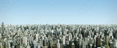 futuristic city, 3d digitally rendered illustration
