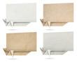 Origami speech banners paper texture