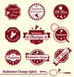 Vector Set: Retro Badminton League Labels and Badges