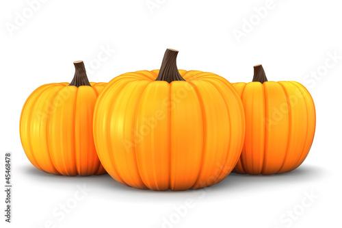 3d render of pumpkins