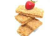 Whole wheat breakfast biscuits with strawberry