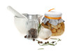 aroma, aromatic, background, bay, bowl, ceramic, closeup, cook,
