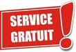 étiquette service gratuit