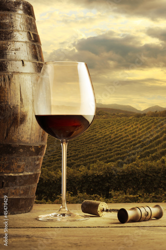 Red wine glass © stokkete