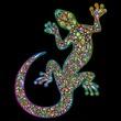 Geko Lizard Psychedelic Design-Geco Lucertola Psichedelico