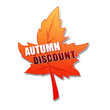 autumn discount in 3d leaf.