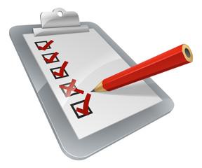 Clipboard survey