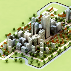 landscape of new sustainable city concept development