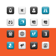 Communication and social buttons