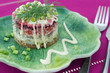 Traditional Russian Beetroot and herring salad