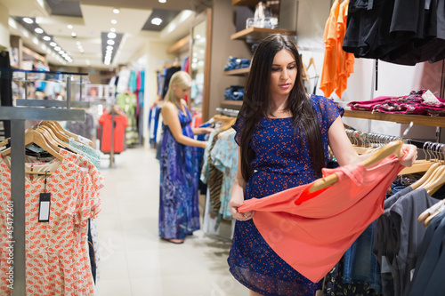 Woman standing in a shop