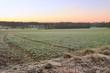 paysage de campagne en hiver
