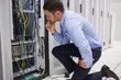 Technican checking server