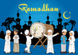Group of Kids Muslim eid mubarak celebration day
