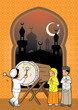 InIndonesian Kids muslim eid mubarak celebration day