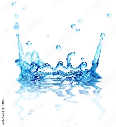splash water isolated on white background © Serghei Velusceac